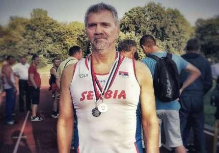Sava Živanov osvojio dve srebrne medalje na Prvenstvu Srbije za veterane