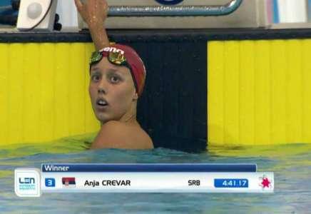 Anja Crevar ponovo juniorska šampionka Evrope na 400 m mešovito