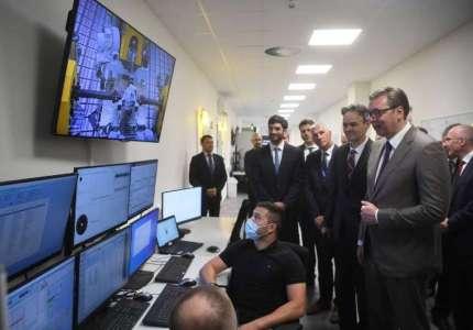 Predsednik Vučić u Pančevu obišao inženjerski centar ZF-a