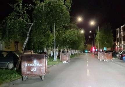 Nevreme u Pančevu: olujni vetar nosio kontejnere