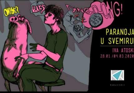 "Strip izložba ""Paranoja u svemiru"" Ive Atoski u Pančevu"