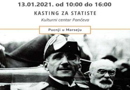 """Kasting za statiste iz Pančeva za film """"Pucnji u Marseju"""""""