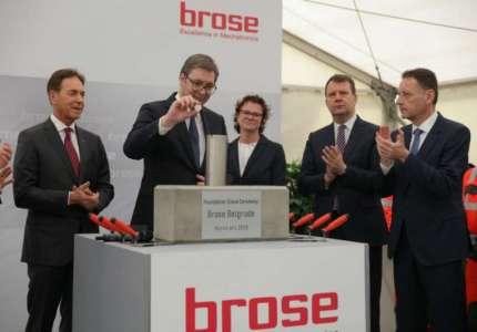"""Postavljen kamen temeljac za nemačku kompaniju """"Brose"""" u Pančevu"""