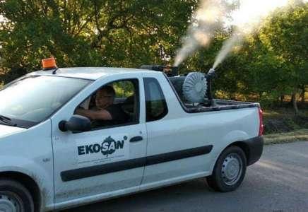 Prskanje komaraca u Glogonju i Jabuci