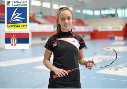 Anđela Vitman iz Pančeva s reprezentacijom osvojila srebro na Evropskom prvenstvu u badmintonu