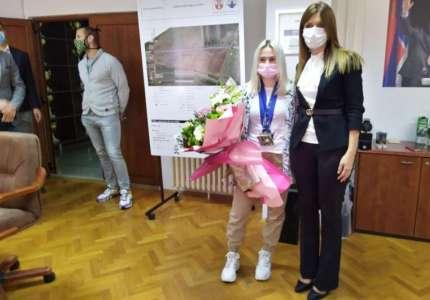 Za evropsku prvakinju u džudou Andreu Stojadinov priređen prijem u Gradskoj upravi