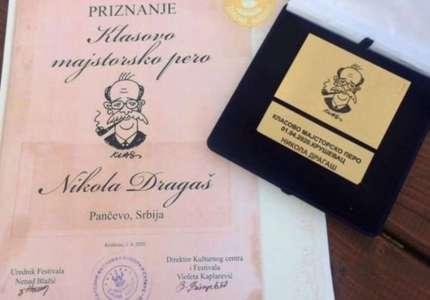 "Priznanje ""Klasovo majstorsko pero"" ove godine pripalo Nikoli Dragašu"