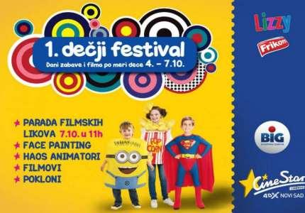 Prvi dečji festival u Cinestar bioskopima od 4. do 7. oktobra