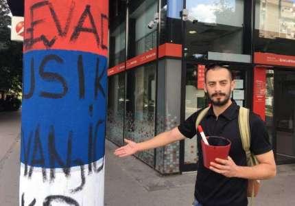 Skrnavio trobojku u sred Novog Sada: Đilasov Milogorac provocira dan pred veliki praznik!