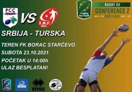Ragbi utakmica reprezentacija Turske i Srbije 23. oktobra u Starčevu