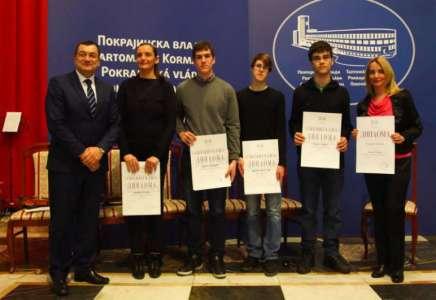 """Uručene nagrade i priznanja darovitim učenicima i njihovim mentorima - """"Talenti 2017"""""""