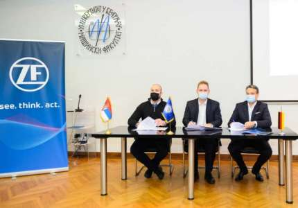 Kompanija ZF Srbija i Formula student tim Drumska strela potpisali ugovor o generalnom sponzorstvu