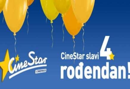 Proslavi 4. rođendan bioskopa CineStar i 25.2. gledaj filmske hitove za samo 160 dinara