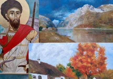Izložba slika i ikona u Domu kulture Banatsko Novo Selo