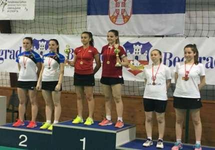 Badminton: Sanja Perić iz Pančeva državna prvakinja u kategoriji ženskih dublova