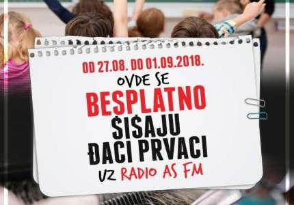 Akcija radija AS FM: besplatno šišanje za đake prvake