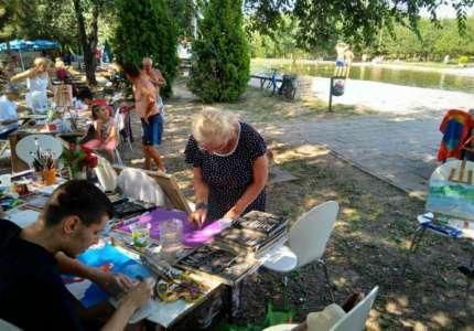 Održana prva likovna kolonija na jezeru u Kačarevu