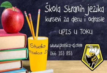 "Studio ""Pčelica D"": upis u toku, početak nastave 15. septembra"