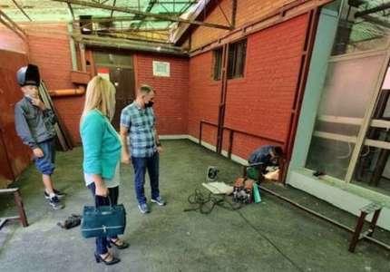 Završava se uređenje dvorišta u Mašinskoj školi Pančevo