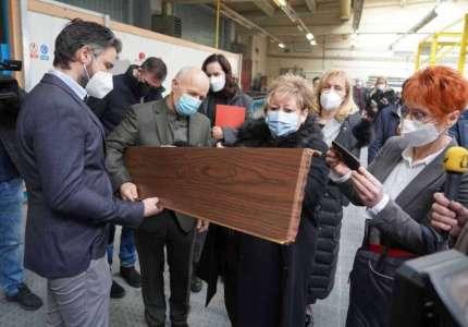 """Ministarska privrede u poseti kompaniji """"Tehnomarket"""" u Pančevu"""