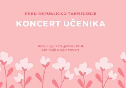 Dva koncerta klasične muzike 3. aprila u Muzičkoj školi