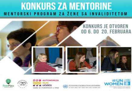 Otvoren konkurs za polaznice mentorskog programa za žene sa invaliditetom