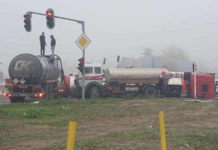 Zbog prevrnute cisterne i dalje usporen saobraćaj iz Beograda ka Pančevu