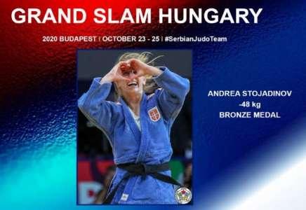 Andrea Stojadinov osvojila je bronzanu medalju na džudo turniru u Mađarskoj