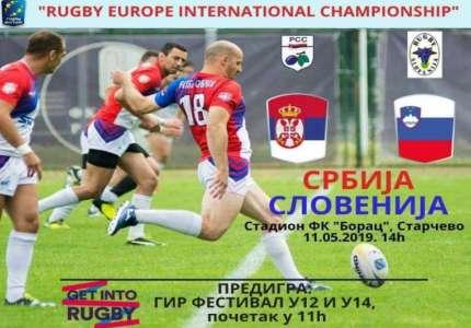 Starčevo: ragbi utakmica reprezentacija Srbije i Slovenije