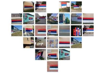 Državne zastave vijore se Pančevom: zastave na javnim ustanovama i preduzećima, murali na mesnim zajednicama