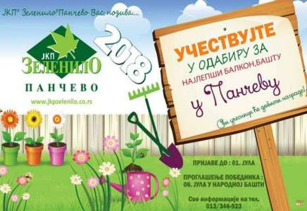 Izbor za najlepšu baštu i balkon Pančeva
