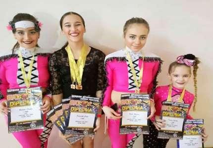 "Osam medalja za takmičarke kluba ""Balerina"""