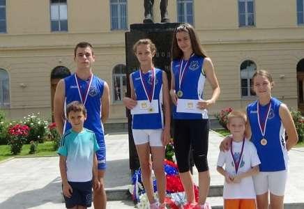 Pet medalja za atletičare Panonije u Mionici