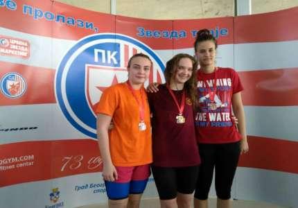 Tri medalje za takmičare Plivačkog kluba Sparta